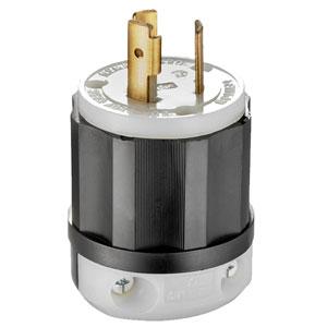 20Amp 250V 2-Pole 3-Wire Locking Plug