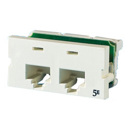 Legrand - Ortronics Two Port Series II Category 5e T568A/B 180° Module