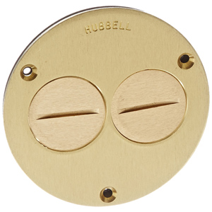 hubbell round floor box flush cover 112