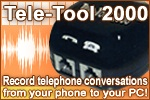 Record telephone conversations from your phone to your PC!