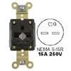 15A/250V Straight Blade, Heavy Duty Specification Grade Single Receptacle