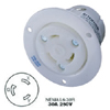 AC Flanged Outlet NEMA L6-30 Female White