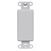 Decora Standard Size Plastic Wallplate Filler (Blank)