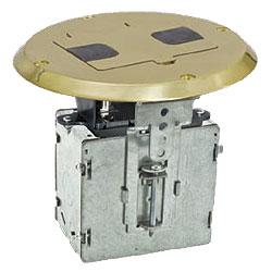 hubbell duplex receptacle floor box kit
