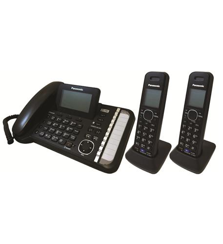 2 Line DECT 6.0 Expandable Digital Corded/Cordless Answering System with 2 Handsets