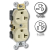 Dual Voltage Triple Wipe Side Wired 20Amp 125V and 20Amp 250V Grounding