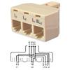 Bridge Tri-plex Splitter Adapter