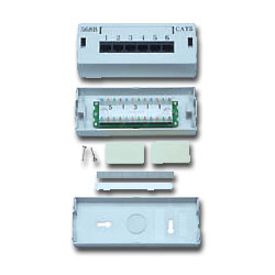 Allen Tel Versatap 6 Port Modular Cat 5e Patch Box