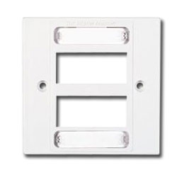 Single Gang MAX British Faceplate for 6 MAX Module