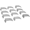 OFR Series Overfloor Raceway Wire Clips (Package of 12)