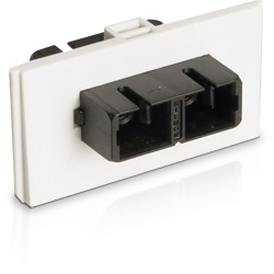 Bezel with Duplex Multimode/Singlemode SC Adapter, Ivory