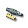 19 Series - Female Ball Nose Double Set Screw Plug Connector and Insulator 690 Amp Max.