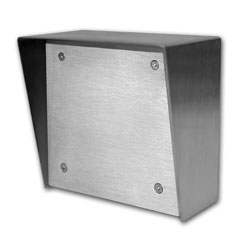 Viking Stainless Steel Surface Box 6x7 with Blank Aluminum Panel