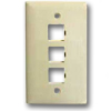 SpeedStar 3-Port Single Gang Faceplate