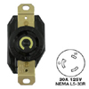 AC Receptacle NEMA L5-30 Female Black 125 Volt 30 Amp