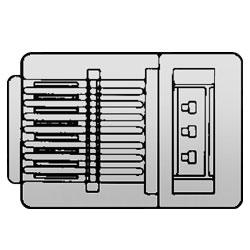 Allen Tel Modular Plug for Solid Wire - Rounded Cord (Package of 100)