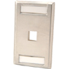 1 Port Single Gang Stainless Steel Faceplate