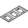 Three-Gang Nonmetallic Carpet Flange, Black