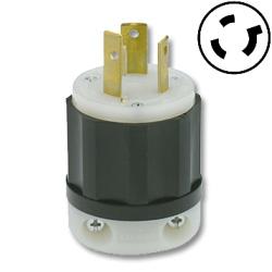 Leviton 30 AMP, 480V, Black Nylon Locking Plug