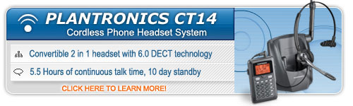 Plantronics CT14 Cordless Phone Headset System