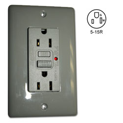 Hubbell Circuit Guard LED GFCI Receptacle