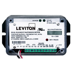 Leviton 1.0 kWh Self-Contained LCD Counter