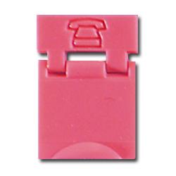 Legrand - Ortronics Colored Designation Shutters, Light Red, Voice (Pkg of 100)