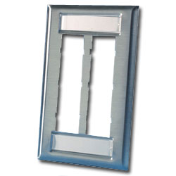 Legrand - Ortronics TracJack™ 6-Port Single Gang Stainless Steel Faceplate