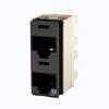 Clarity 5E Dual Panel Jack, Rear Load, T568A/B, 180 Degree