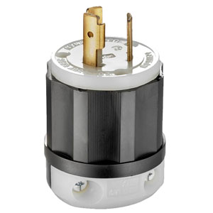 20Amp 250V 2-Pole 3-Wire Locking Plug
