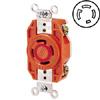 30 AMP, 480V, V-0-MAX Single Flush Receptacle with Isolated Ground