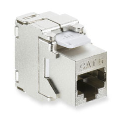 Leviton CAT 6 Shielded Connector Snap-in Jack, T568 A/B 110 Termination