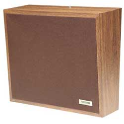 Valcom One-Way Woodgrain Wall Speaker (Cloth)