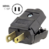 15A 125V Polarized Light Duty Clamptite Plug