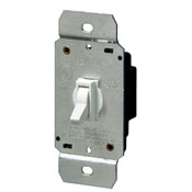 Single Pole Illuminated Toggle Dimmer (Device color clear)