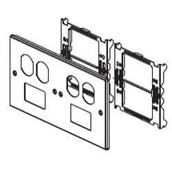 Legrand - Wiremold 6000/4000® Series Four-Gang Overlapping Cover Two Duplex & Two TracJack Mini Adapters