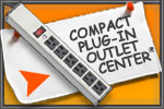 Compact Plug-In Outlet Center with Six Outlets and Lighted Switch