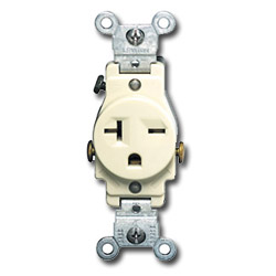 Leviton Side Wired 20A 250V Single Receptacle - Receptacles ...