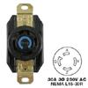 AC Receptacle NEMA L15-30 Female Black 250 Volt 30 Amp