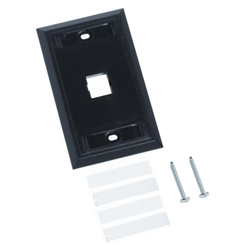 L Series Flush-Mounted Faceplate - 1 Port
