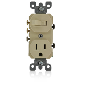 Leviton Leviton 3-Way Switch/Receptacle (Non-Grounding Switch ...