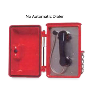 Allen Tel Ring Down Outdoor Phone with Amplified Handset and Push Latch