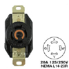 AC Receptacle NEMA L14-20 Female Black 125/250 Volt 20 Amp