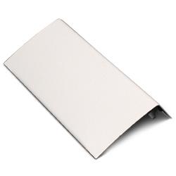 Half Seam Clip Blank Faceplate Fitting, Fog White