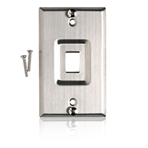 Allen Tel Stainless Steel  VoIP Wall Telephone Faceplate