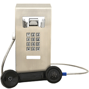 VoIP-Sip Vandal Resistant Mini Stainless Steel Wall Telephone