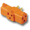 15Amp 125V U-Ground Plug-In Outlet Adapter