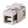 Keystone, USB Type A-B, Feed-Thru, Reversible