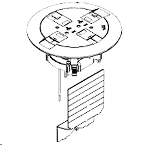 Legrand - Wiremold Ratchet-Pro 881 Series Multiple Service Floor Box Cover Kit