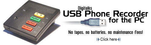 Digitalks USB PC Recorder with Headset